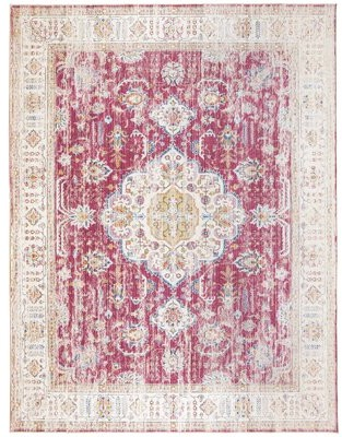 Bungalow Rose Artimacormick Oriental Flatweave Persian Distressed Berry Area Rug Rug Size: Rectangle 4' x 6'
