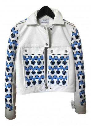 Courreges Blue Leather Jackets