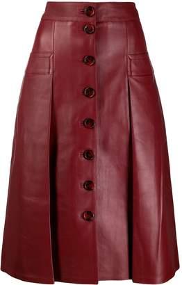 Dodo Bar Or leather midi skirt