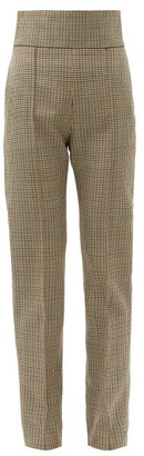 Alexandre Vauthier High-rise Houndstooth Wool-tweed Trousers - Grey Multi