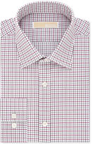 MICHAEL Michael Kors Men's Classic/Regular Fit Cotton Non-Iron Red Check Dress Shirt