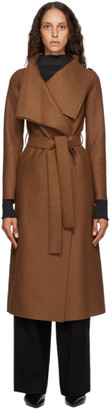 Harris Wharf London Tan Virgin Wool Volcano Coat