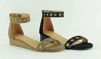 The Divine Factory Women's Lien Ankle Strap Sandals