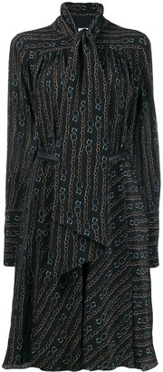 Salvatore Ferragamo Chain Print Dress