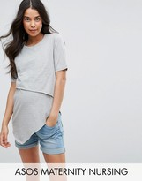 ASOS Maternity - Nursing ASOS Maternity NURSING Short Sleeve Asymmetric Top with Double Layer