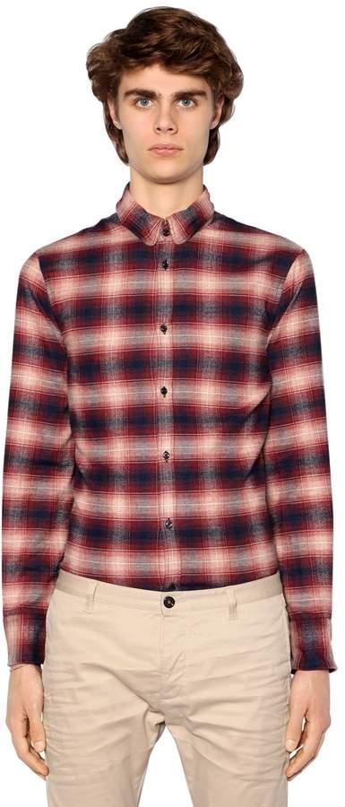 DSQUARED2 Plaid Flannel Cotton Shirt