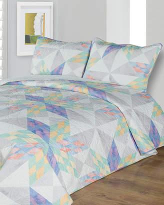 Melange Home Kaleidoscope Quilt Set