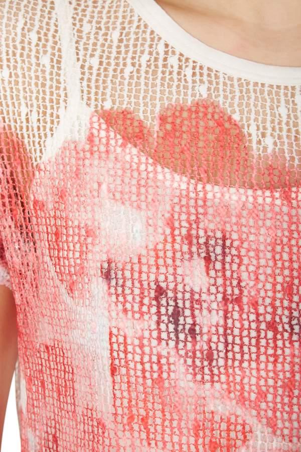 Izabel London Poppy Blur Layer Top