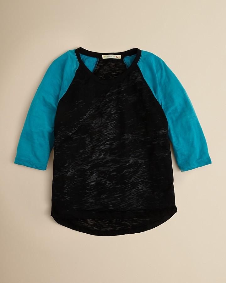 Alternative Apparel Girls' Fern Baseball Shirt - S-XL