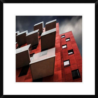 """Global Gallery """"Trays Outside"""" Framed Digital Print by Gilbert Claes, 24x24"""""""
