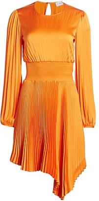 A.L.C. Behati Vintage Satin Gabriela Pleated Dress