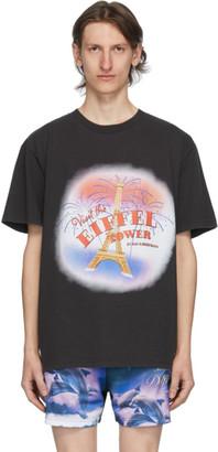 Han Kjobenhavn SSENSE Exclusive Black Visit The Eiffel Tower T-Shirt