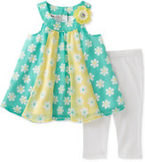 Kids Headquarters 2-Pc. Floral-Print Tunic & Capri Leggings Set, Baby Girls (0-24 months)