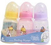 Luv N Care PreciousMoments Bottle Set Girls Color 4 oz BPA FREE by Luv n' Care
