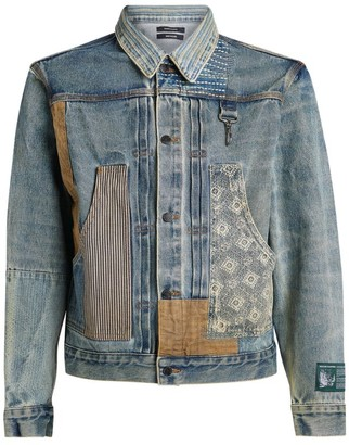 Reese Cooper Patched Denim Trucker Jacket
