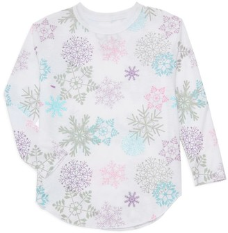 Chaser Girl's Snowflake Long-Sleeve Top