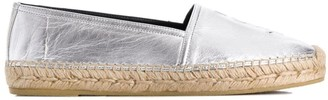 Saint Laurent Monogram metallic espadrilles