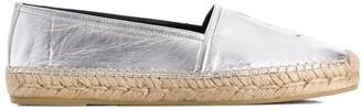 Saint Laurent metallic leather espadrilles