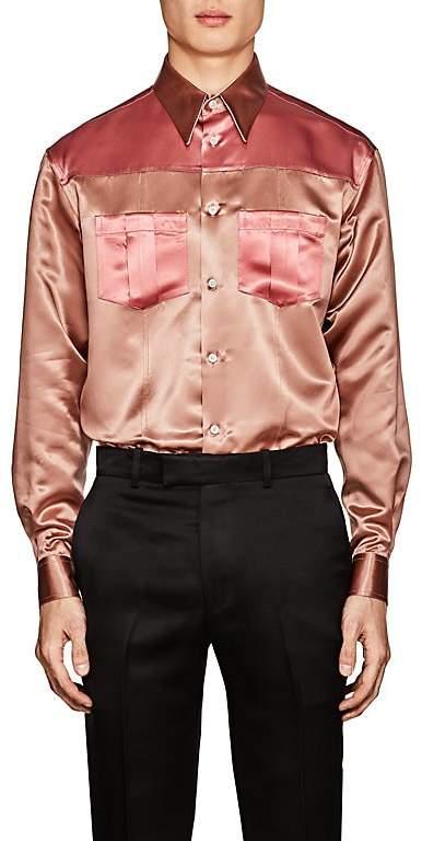 Calvin Klein Men's Colorblocked Satin Shirt