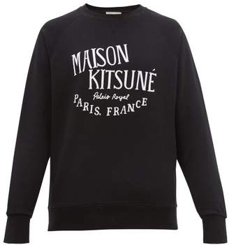 MAISON KITSUNÉ Palais Royal Print Cotton Sweatshirt - Mens - Black