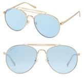 Women's Perverse Crisp Aviator Sunglasses - Blue/ Gold