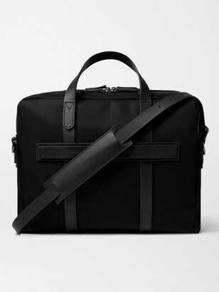 Mismo Endeavour Leather-Trimmed Nylon Briefcase - Men - Black
