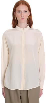 Isabel Marant Cade Shirt In Beige Silk