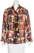Jean Paul Gaultier Long Sleeve Sheer Blouse