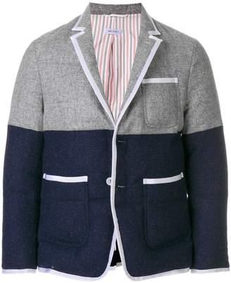 Thom Browne Bicolor Quilted Sack Sport Coat