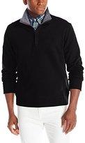 Nautica Men's 1/4 Zip Mock Neck Sweater with Placket