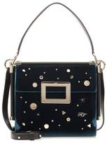 Roger Vivier Miss Viv' Carré Small velvet shoulder bag