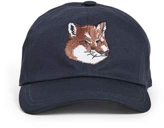 MAISON KITSUNÉ Large Fox Head Embroidery Hat