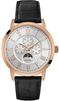 GUESS Black and Rose Gold-Tone Multifunction Watch