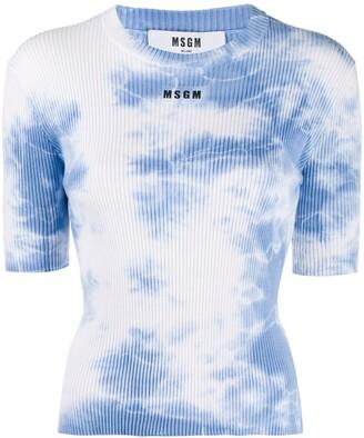 MSGM tie-dye print T-shirt