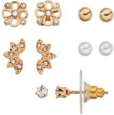 Lauren Conrad Flower & Fan Stud Earring Set