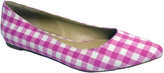 Penny Loves Kenny Pink & White Gingham Aaron II Ballet Flat