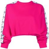 Chiara Ferragni eyelash trim cropped jumper