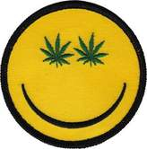 Christian Dior C&D Novelty Iron on - Weed Indeed!! Pot Marijuana Leaf Smiley Face Logo Patch