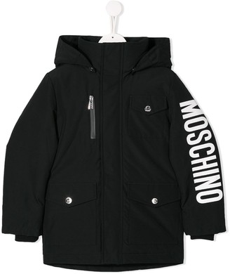MOSCHINO BAMBINO Padded Hooded Jacket