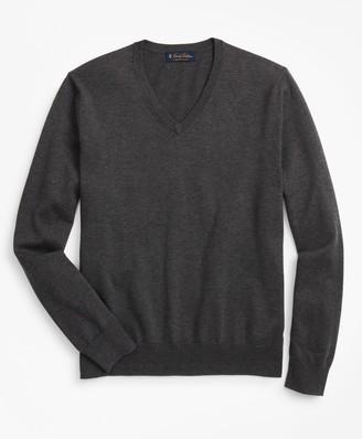 Brooks Brothers Supima Cotton V-Neck Sweater