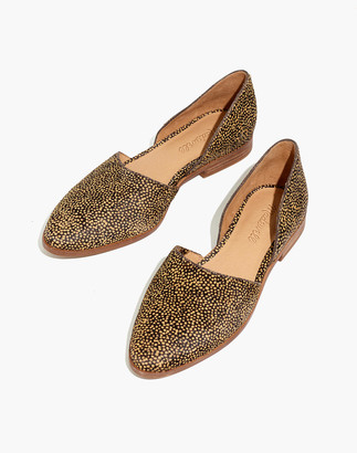 Madewell The Marisa d'Orsay Flat in Spotted Calf Hair