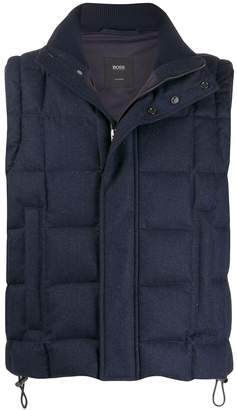 HUGO BOSS fine knit quilted gilet