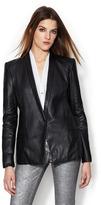 Helmut Lang Matte Leather Blazer
