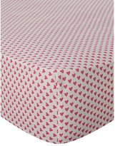 George Home Hot Pink Hearts Fitted Sheet - Single