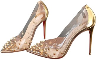 Christian Louboutin Degrastrass Gold Patent leather Heels