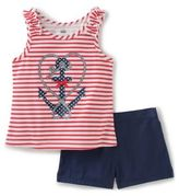 Kids Headquarters Baby's Two-Piece Anchor Top and Shorts Set