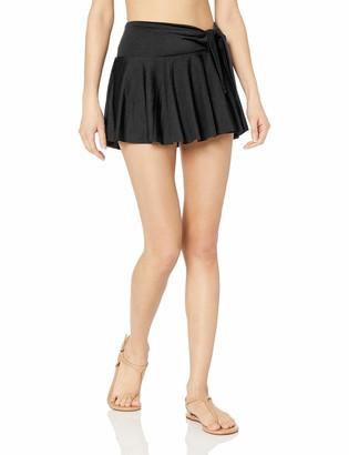 T Tahari Tahari Women's Tie Front Skirt Swim Swimwear Cover-Up