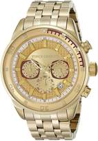 Vince Camuto Men's VC/1044GDGP The Admiral Chronograph Multi-Function Dial -Tone Bracelet Watch