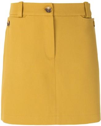Egrey Cotton Straight Skirt