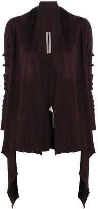 Rick Owens Fine-Knit Asymmetric Cardi-Coat